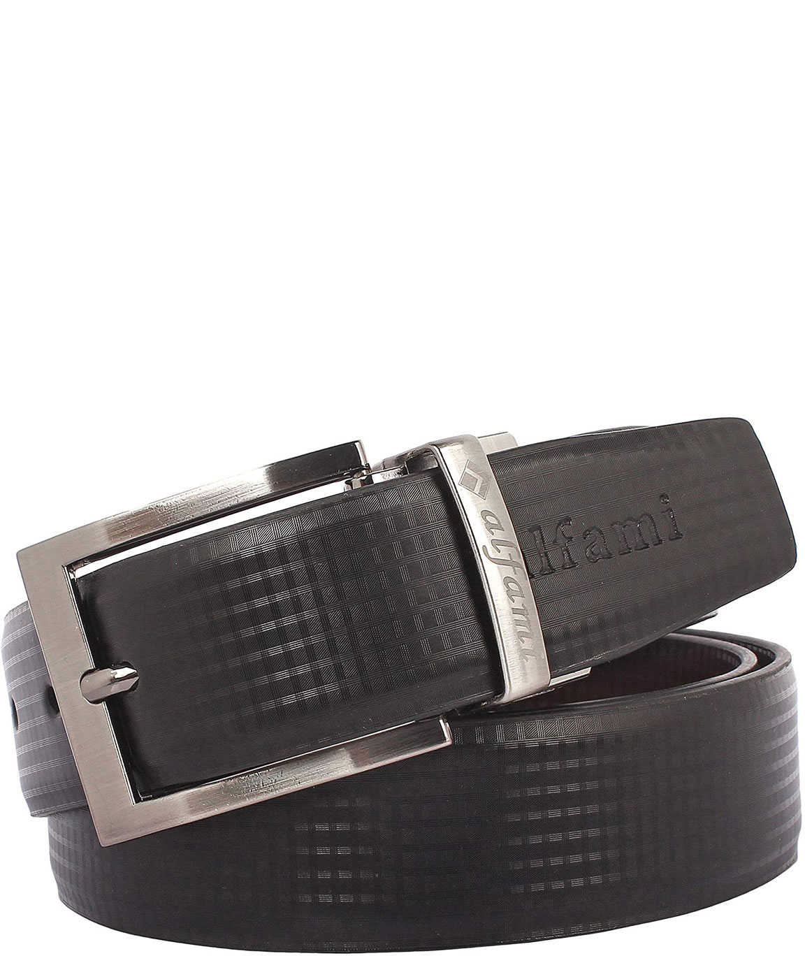 Alfami Gents Executive PU Leather Reversible Belt | Formal / Casual | Black / Brown | Free size upto for 44 waist