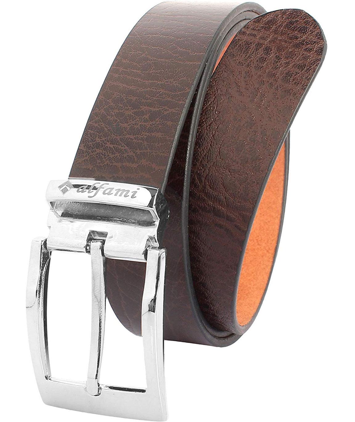 Alfami Mens Genuine Leather Belt Brown Colour All Sizes Cobra Pattern