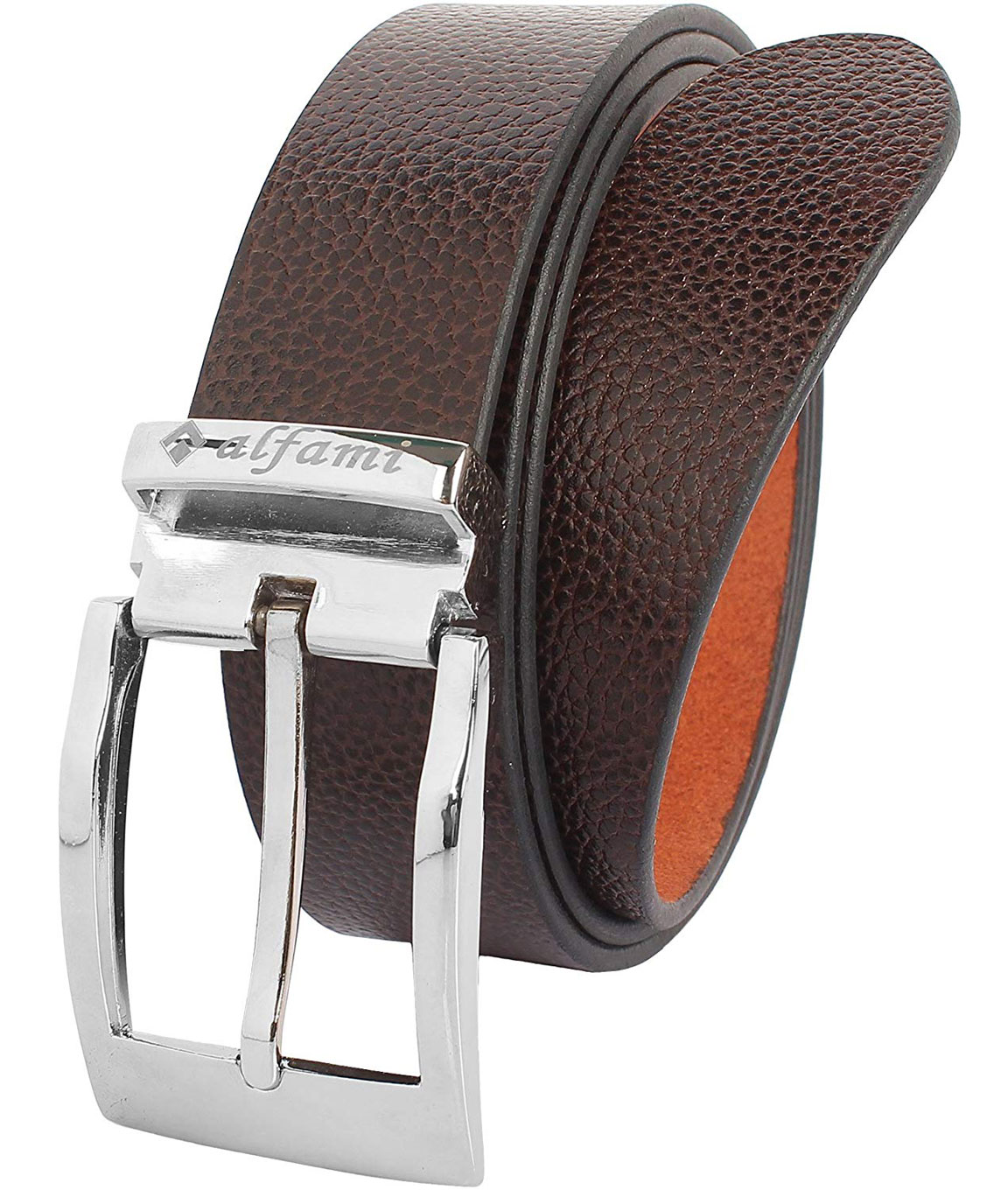 Alfami Mens Genuine Leather Belt Brown Colour All Sizes LC Pattern