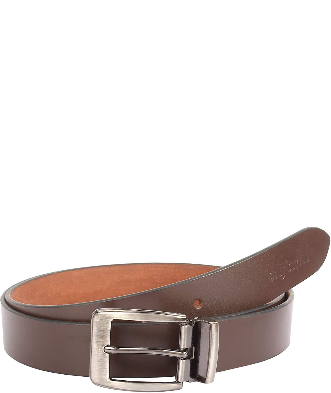 Alfami Mens Genuine Leather Belt Brown Colour All Sizes Timber Pattern
