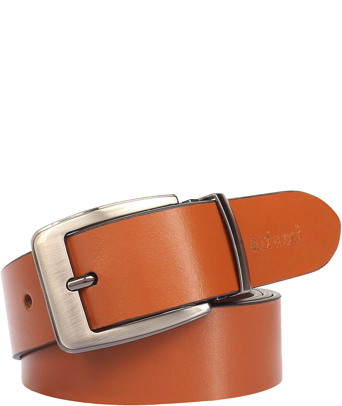Alfami Mens Genuine Leather Belt Brown/Tan Colour All Sizes Timber Pattern