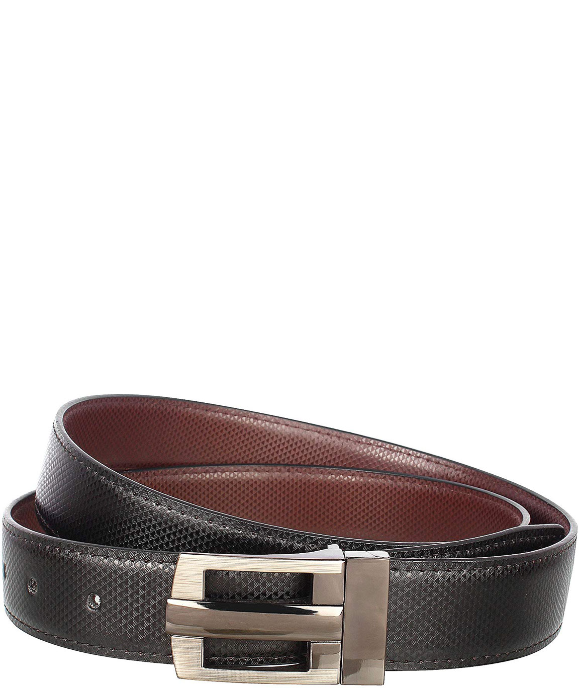 Alfami Mens PU Leather Belt Hook Buckle Free size upto 42 inch waist (Pack of 1)