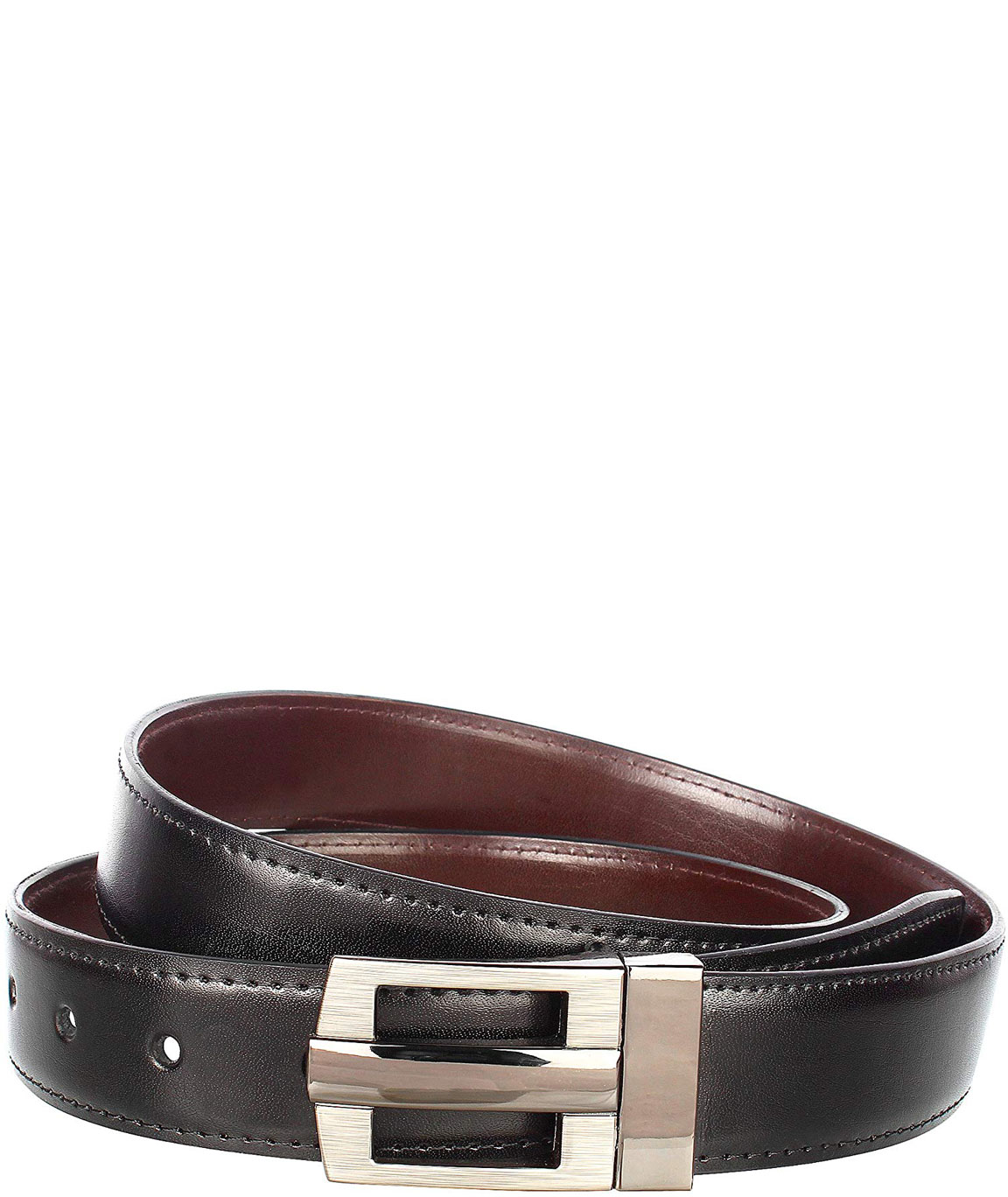 Alfami Mens PU Leather Belt Hook Buckle Smooth Texas Pattern Free size upto 42 inch waist