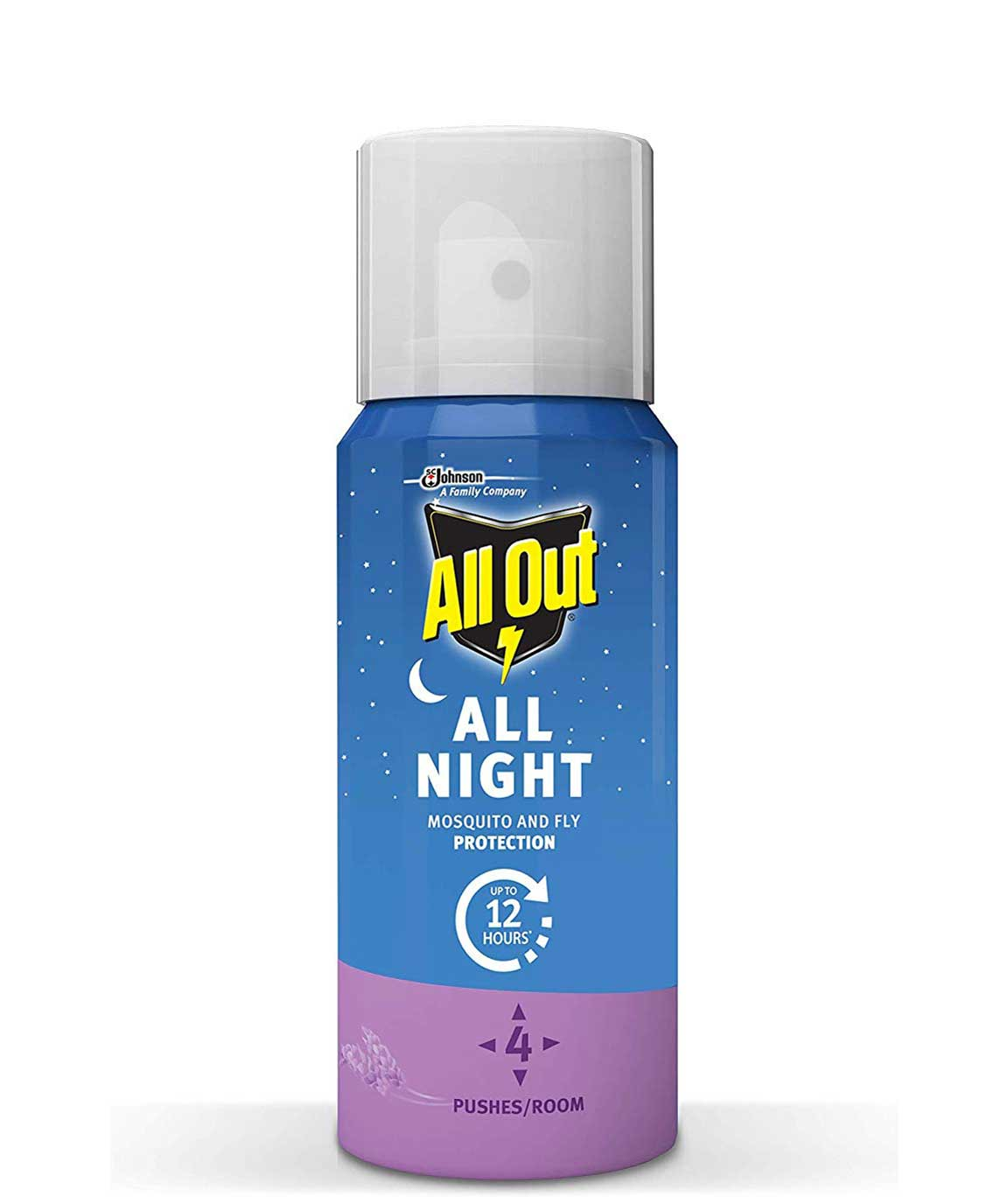 All Out All Night Mosquito and Fly Spray, 15ml