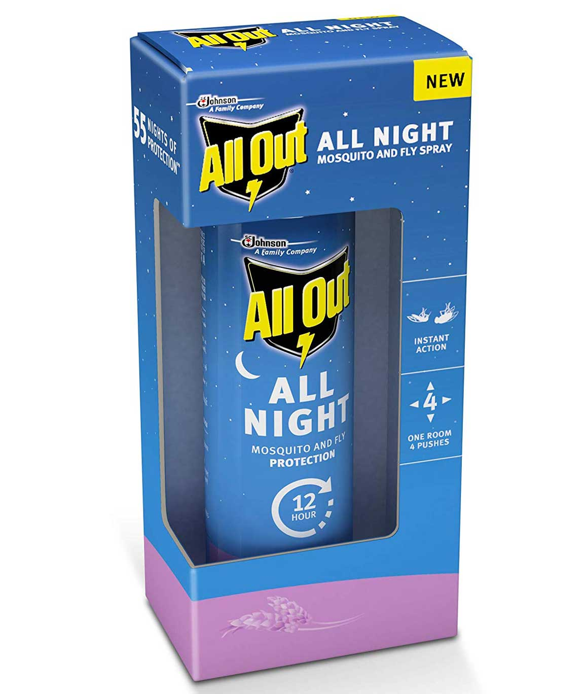 All Out All Night Mosquito and Fly Spray, 30ml