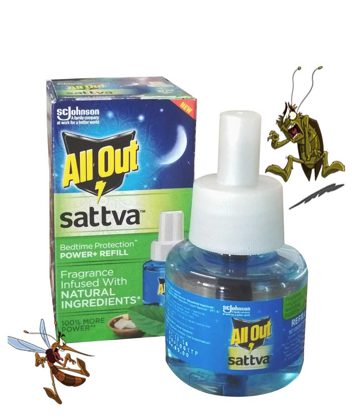 All Out Sattva Refill (Pack of 4)