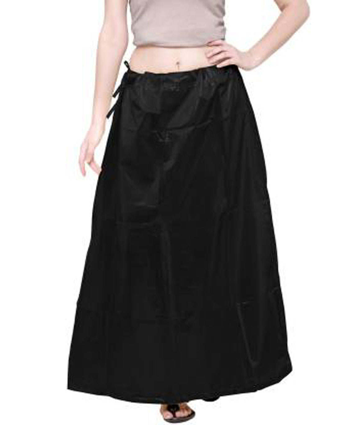 AM-BLKLSHIMMERPTC50 LEATHER SHIMMER PETTICOAT (XL)