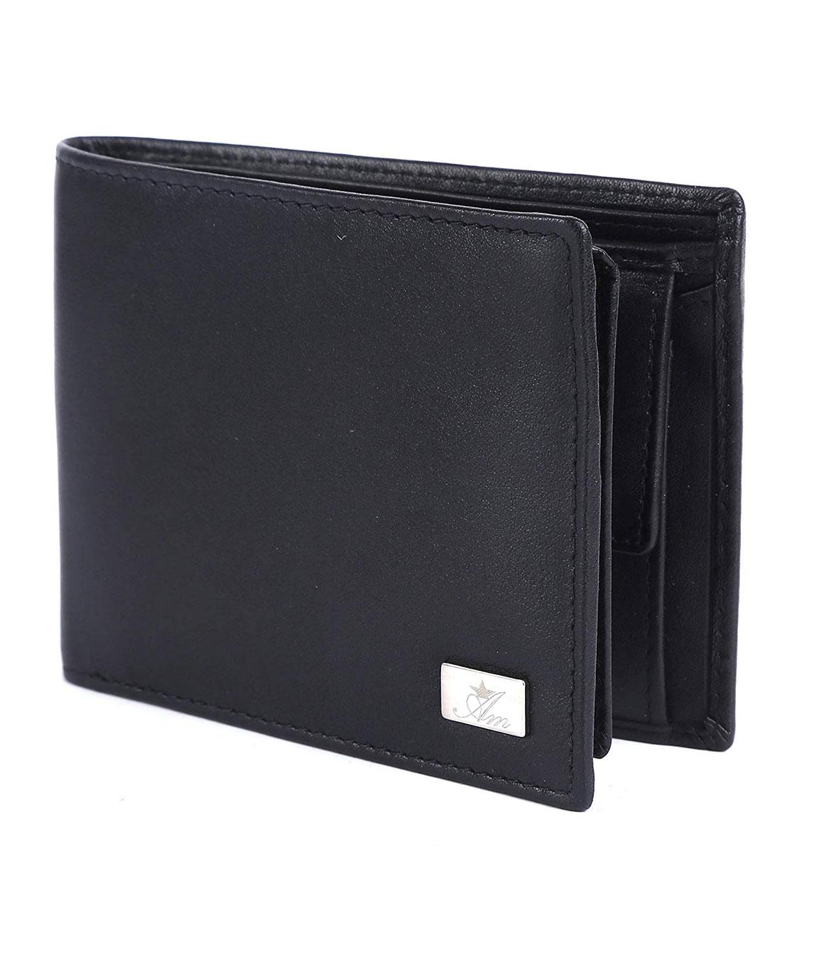 AM LEATHER Black Men`s Wallet