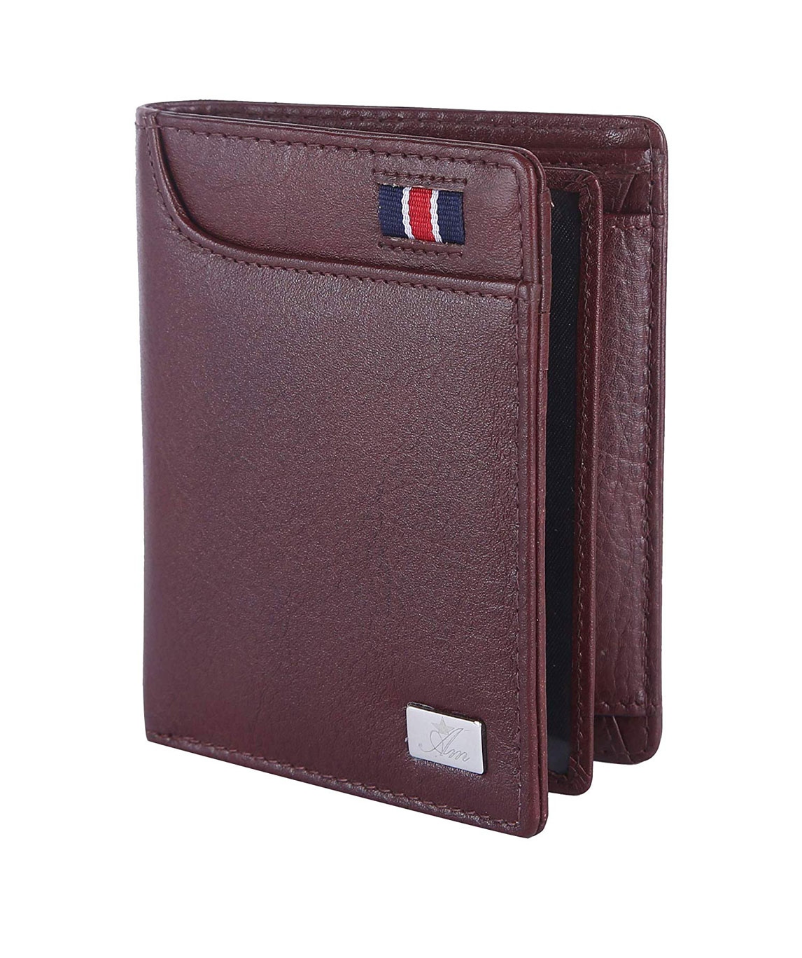 AM LEATHER Genuine Brown Leather Wallet Good Premium Quality Hand Crafted Purse Wallet for Men