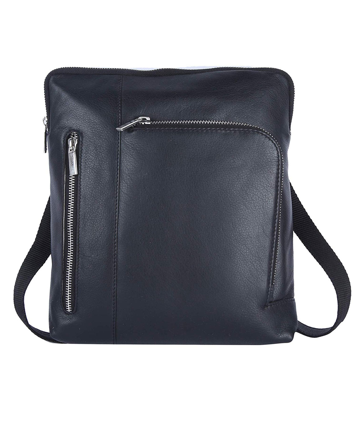 AM LEATHER Leather Black Office Bag