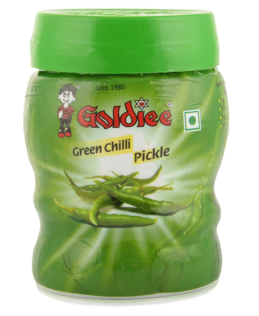 GOLDIEE GREEN CHILLI PICKLE 500gm