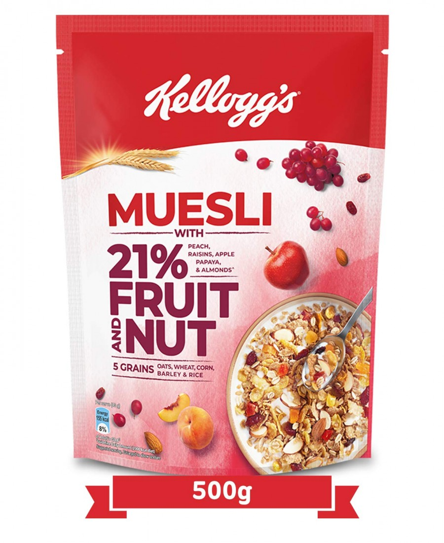 KELLOGGS MUESLI FRUIT & NUT 500Gm