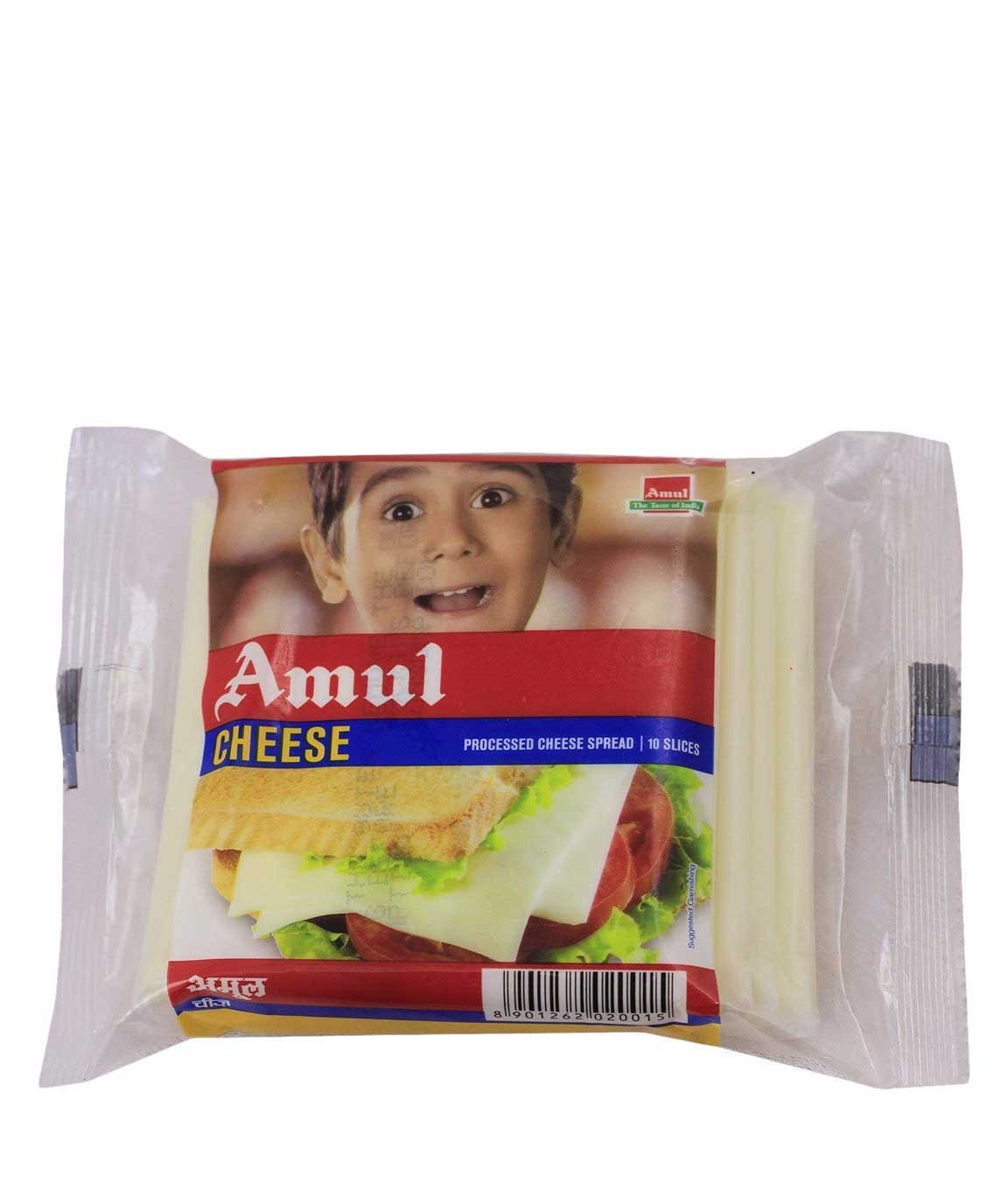 Amul Cheese Slice 200 Gm 10 Piece (Pack of 2)