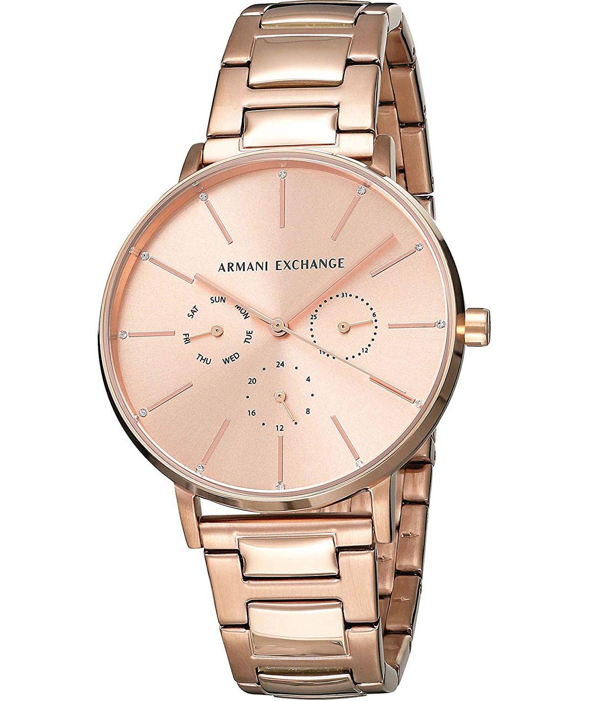 Armani Exchange Lola Analog Gold Dial Women`s Watch