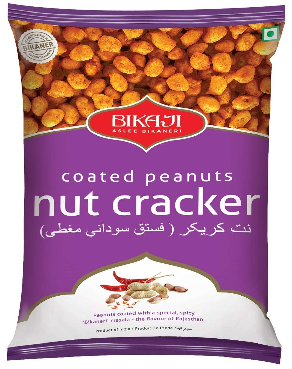 Bikaji Aslee Bikaneri Spicy Coated Peanuts Nut Cracker -Indian Namkeen Snack 400 g