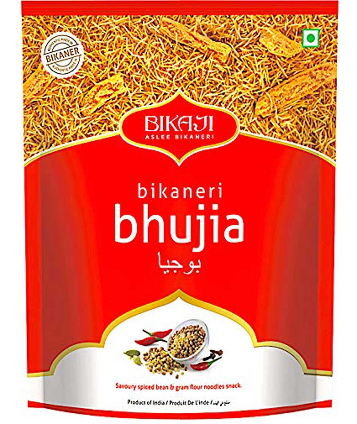 Bikaji Aslee Bikaneri Vegetarian Indian Namkeen Snack, 1 kg