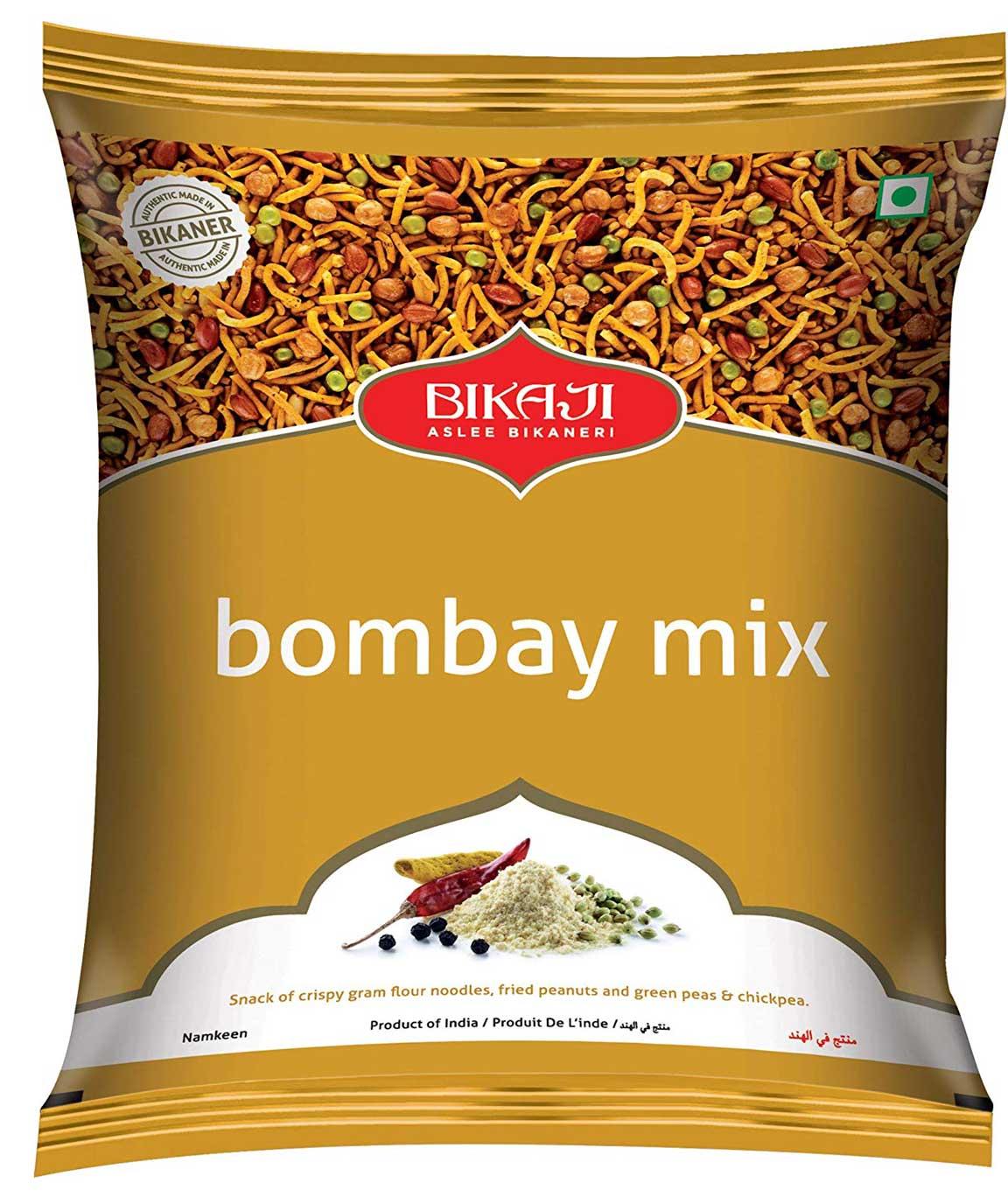 Bikaji Bombay Mix 200g - Namkeen - Mixtures Snack - Pack of 4