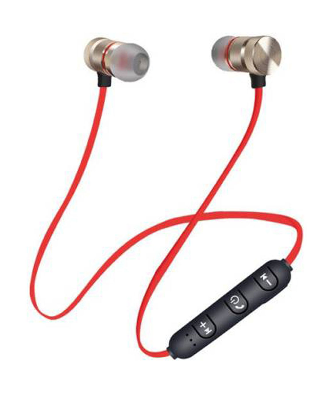 BLUETOOTH MAGNETIC HANDSFREE HEADPHONES FOR SMARTPHONES BLUETOOTH HEADSET WITH MIC (RED, BLACK, IN THE EAR)