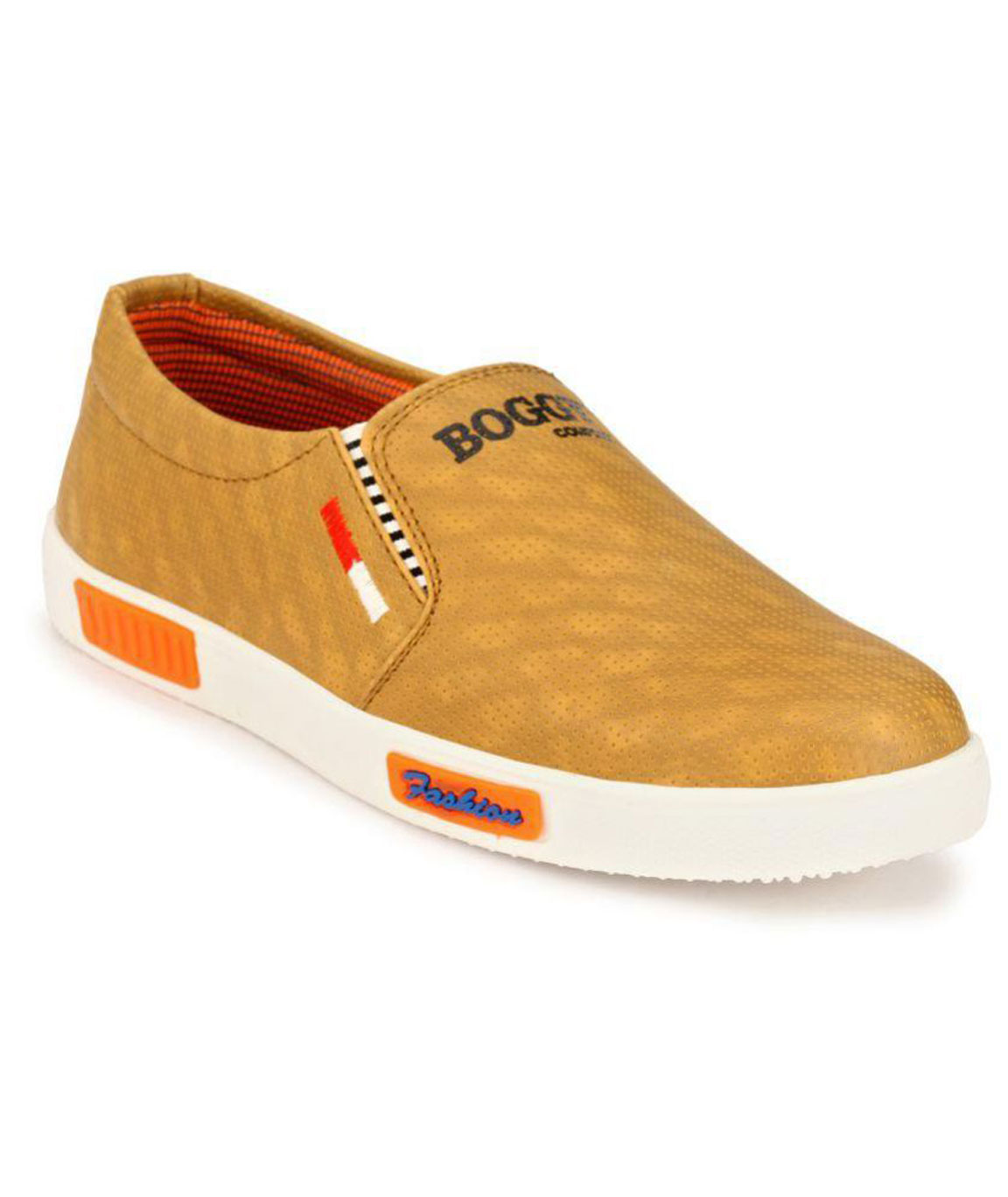 Boggy Confort Tan Sneakers Casual Shoes