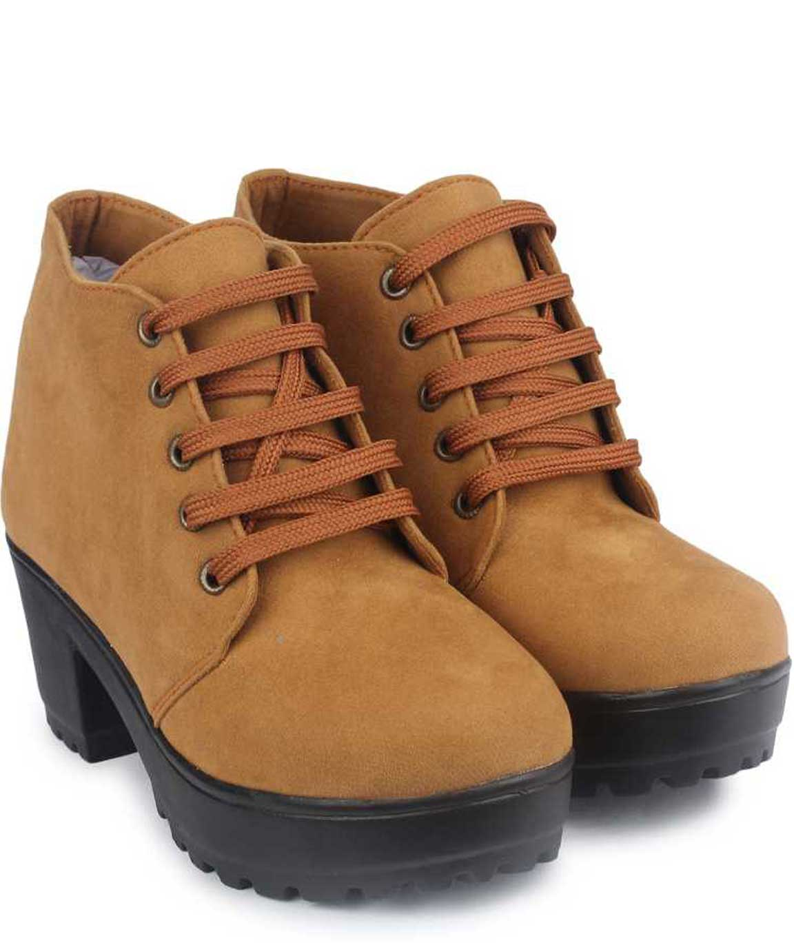 BOOT FOR WOMEN ( TAN-BROWN )
