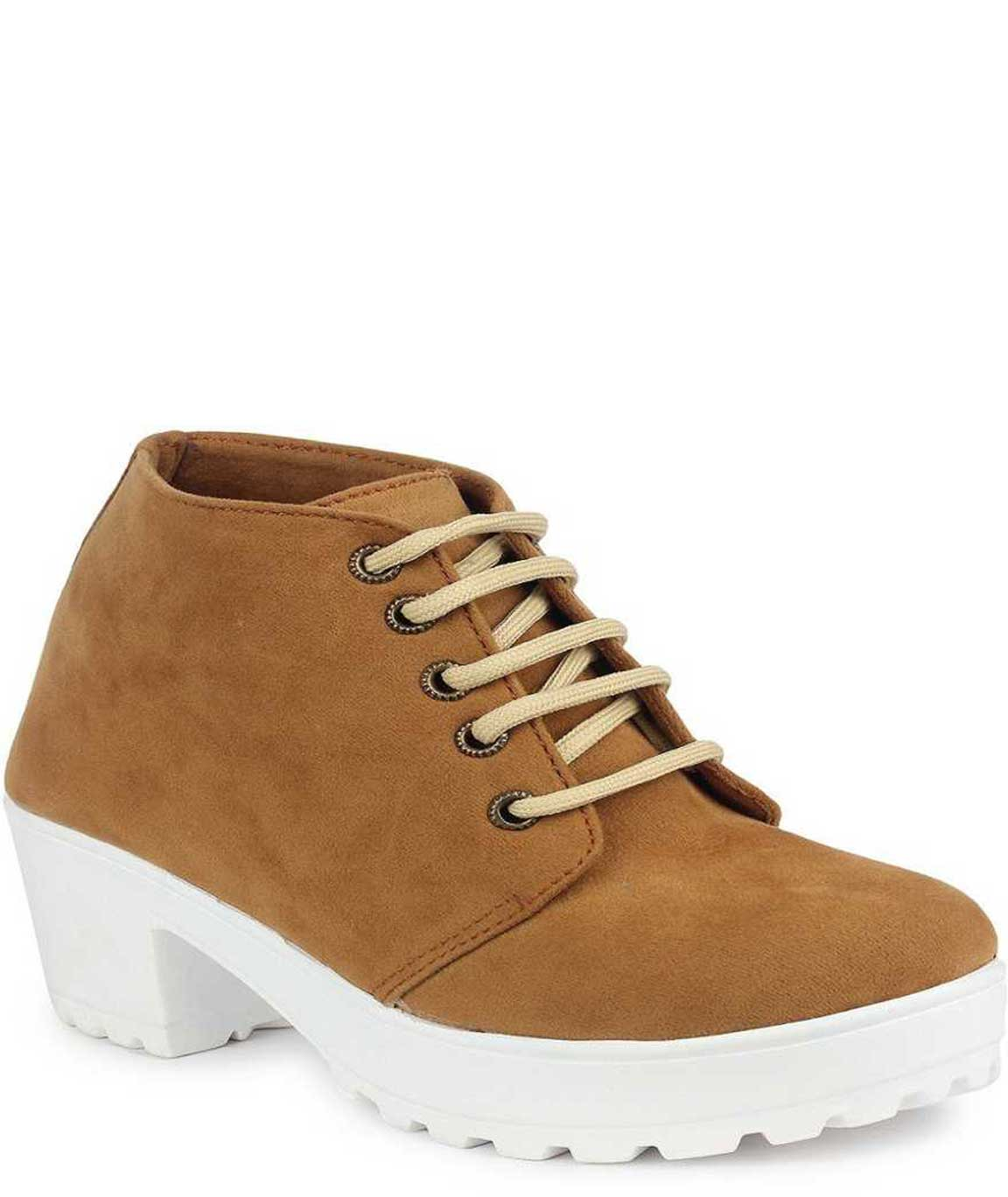 BOOT FOR WOMEN (TAN-WHITE)