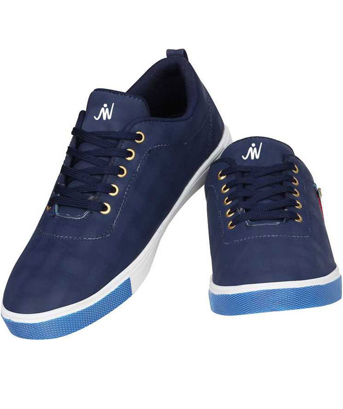 CHECK SNEAKERS CASUALS FOR MEN (NAVY, WHITE)