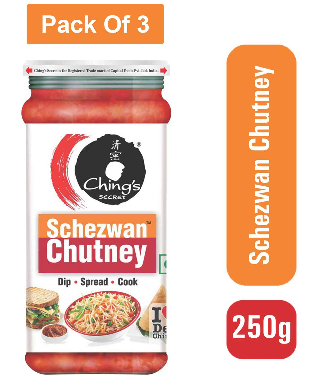 Ching`s Secret Schezwan Chutney 250g- Pack of 3