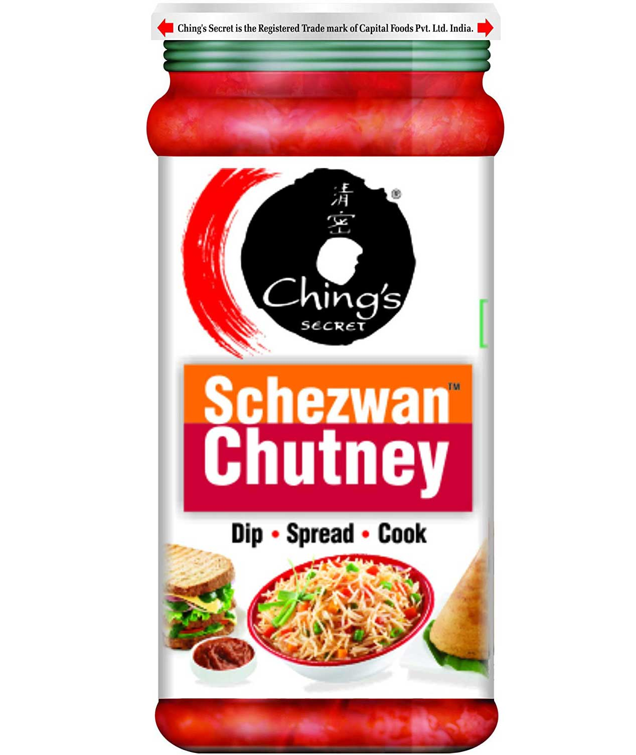 Chings  Schezwan Chutney, 250 gm Bottle