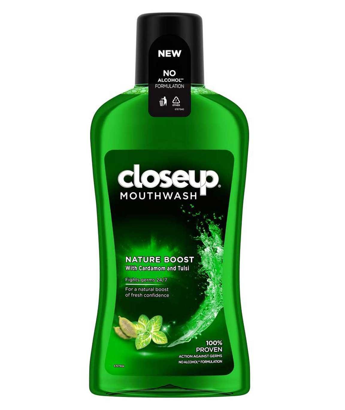Closeup Nature Boost Mouthwash - 500 ml