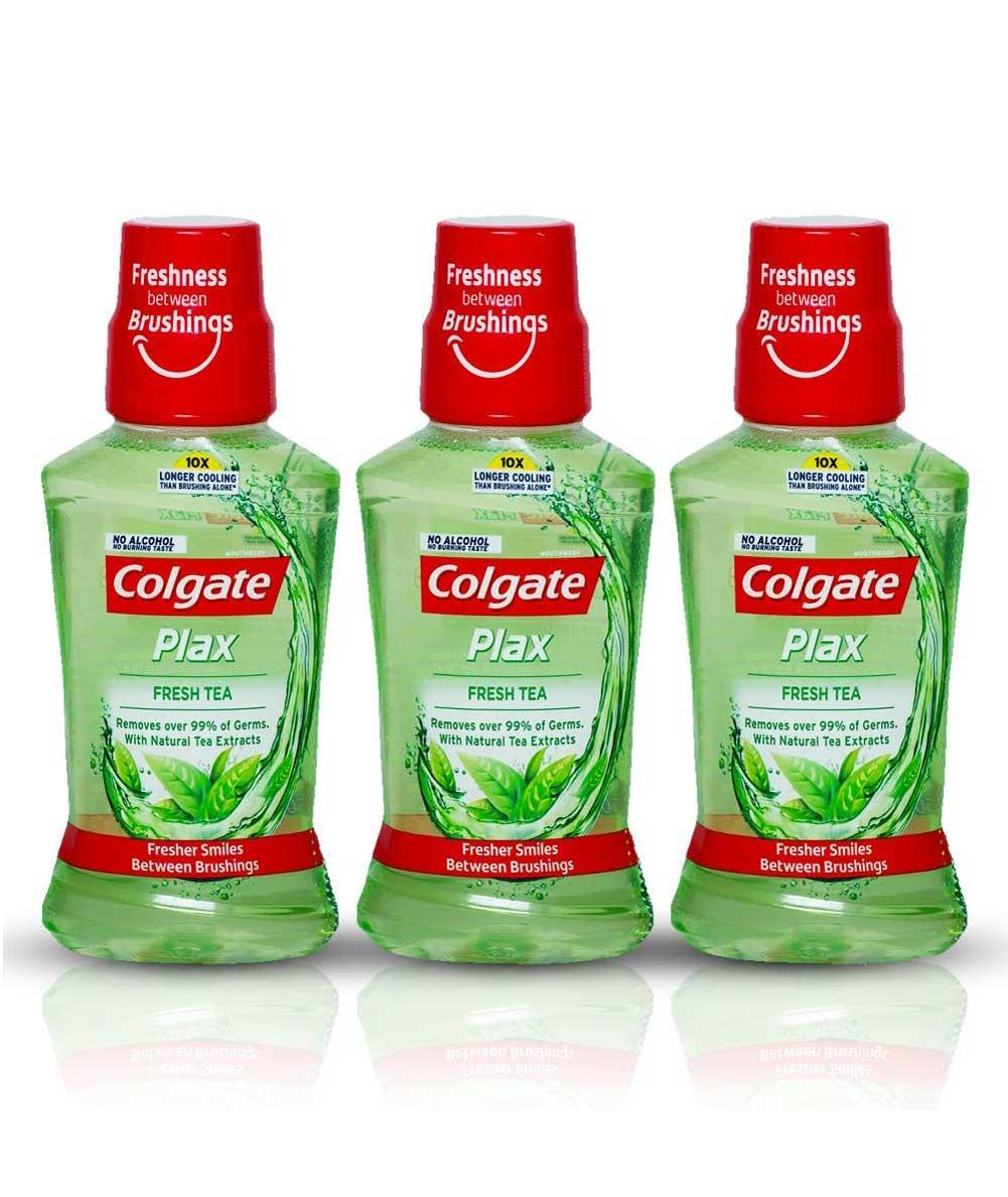 Colgate Plax Fresh Tea Mouthwash, 250ml (Pack of 3)