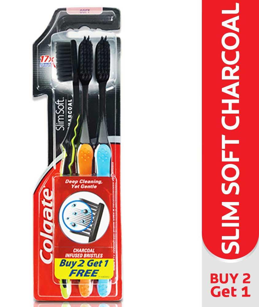 Colgate Slim Soft Charcoal Toothbrush (Buy 2 Get 1 Free)