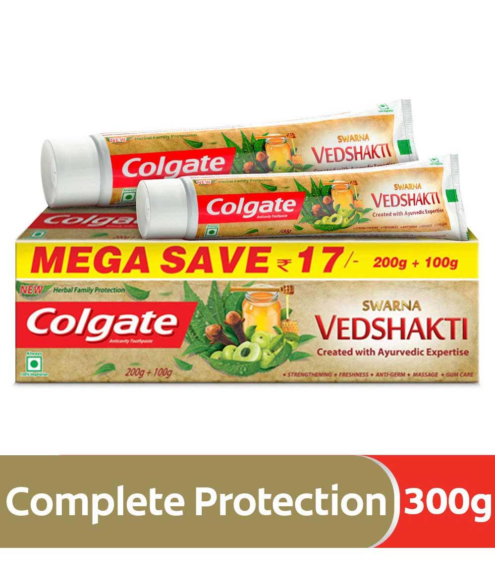 Colgate Swarna Vedshakti Toothpaste - 300gm