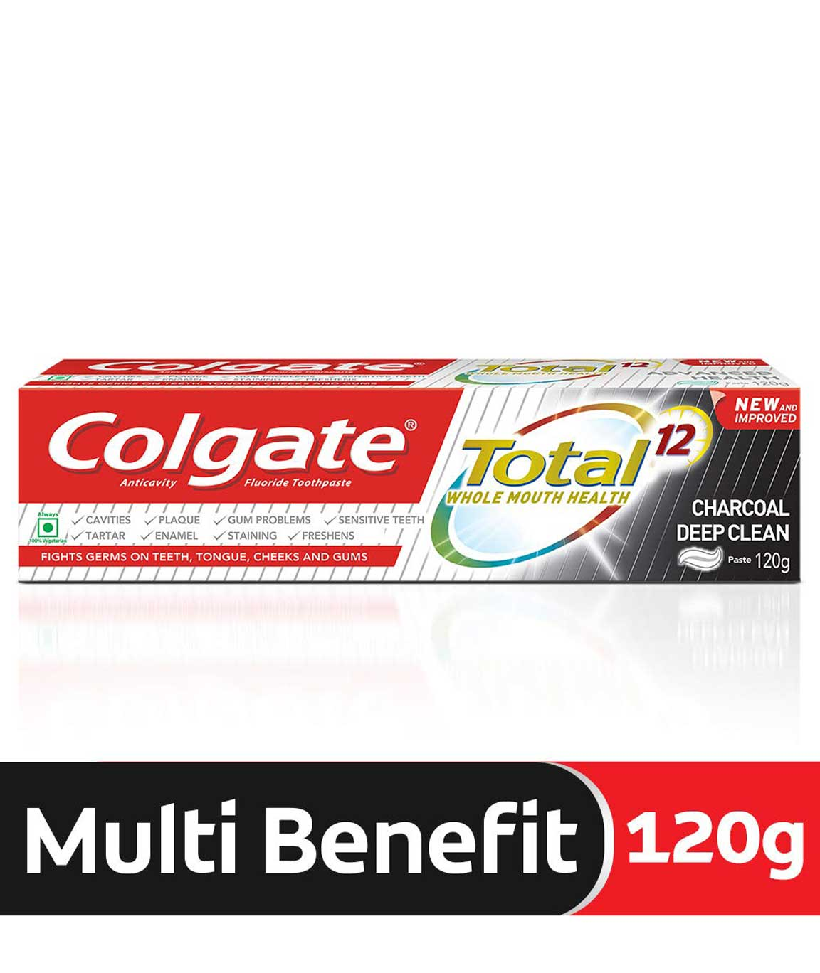 Colgate Total Charcoal Deep Clean Toothpaste - 120 g