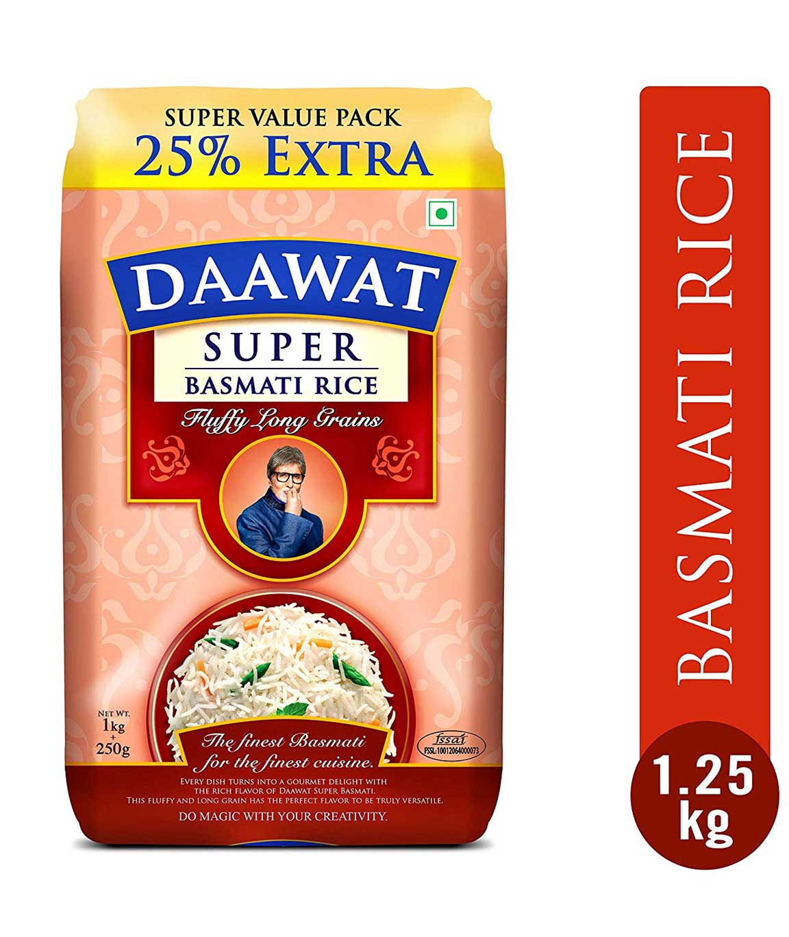 Daawat Super Basmati 1kg with 25% Extra
