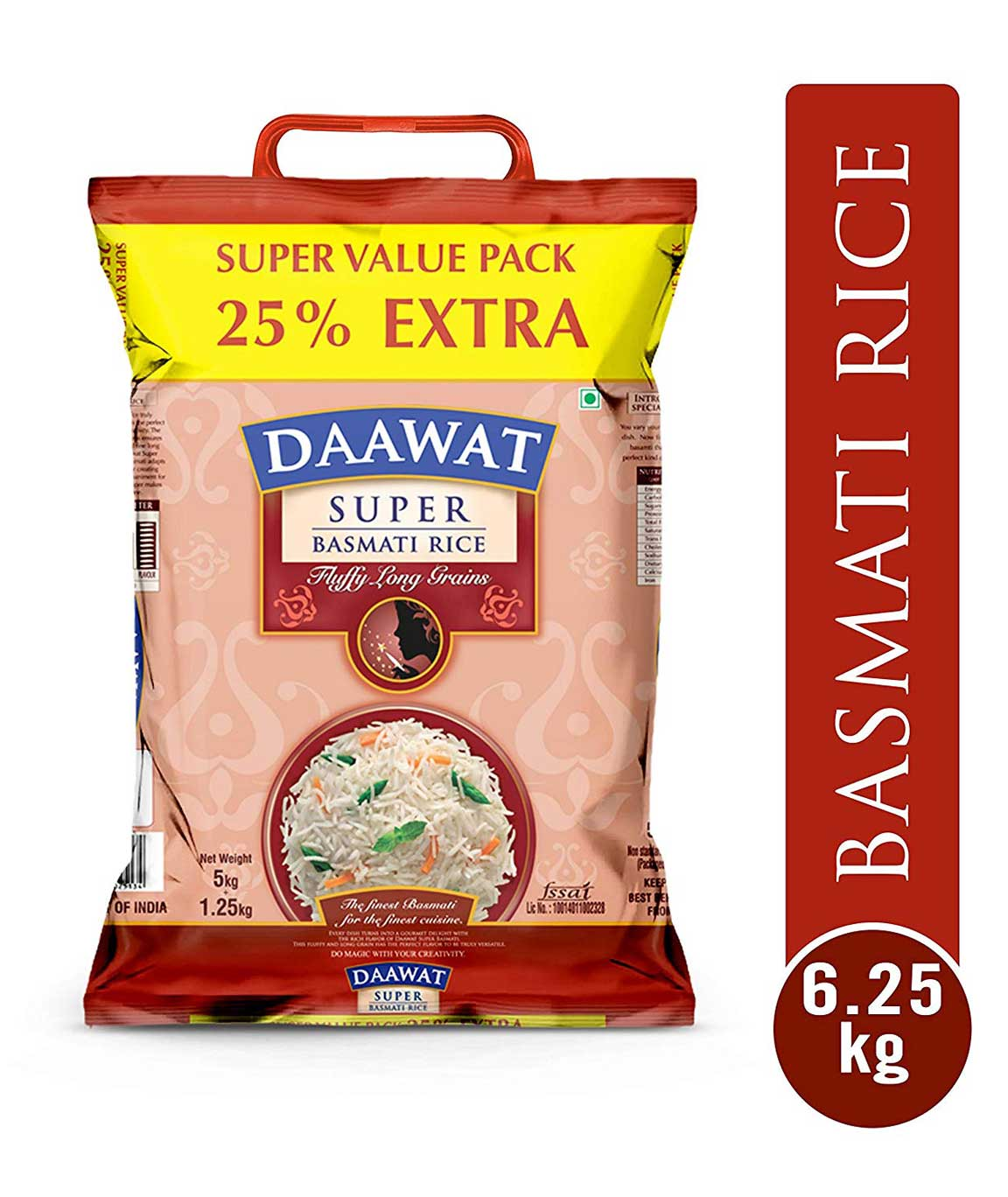 Daawat Super Basmati 5kg with Free 25 Percent Extra
