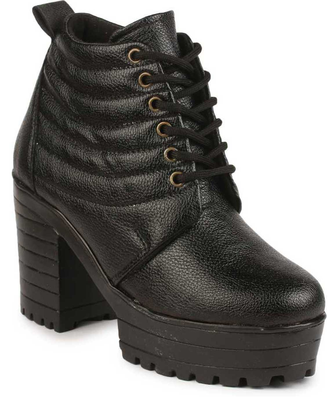 DARK BLACK BOOTS FOR WOMEN