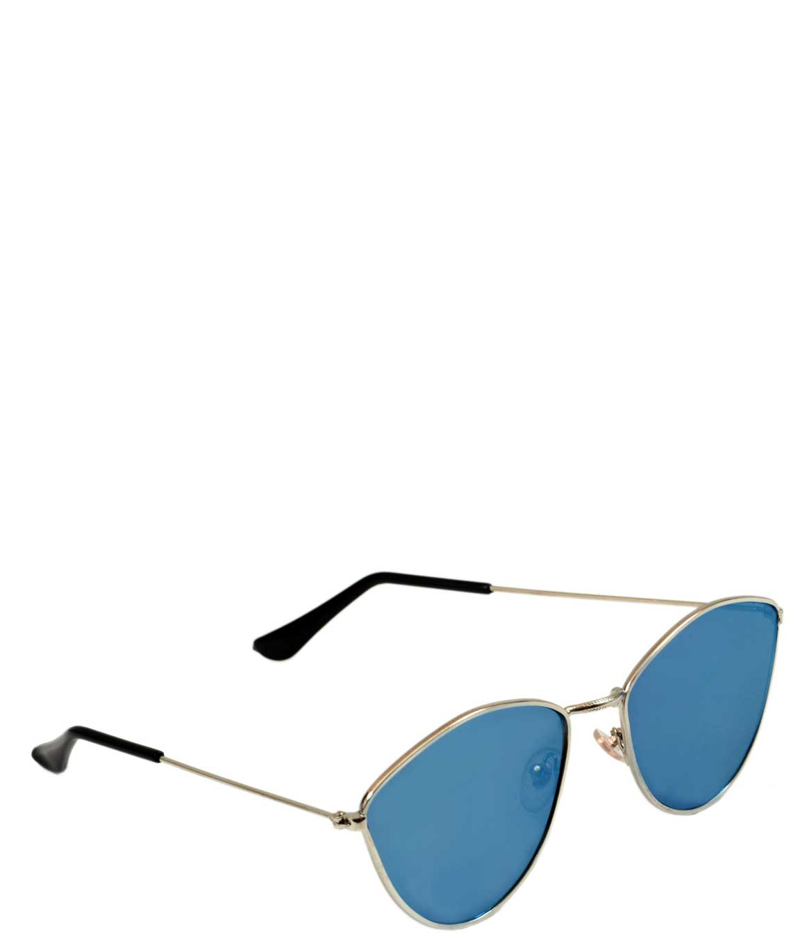 DARK BLUE OVAL SUNGLASSES