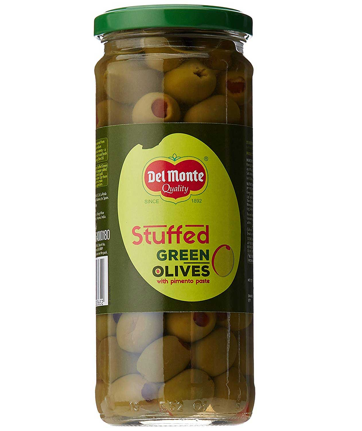 Del Monte Green Olives Stuffed with Pimiento 450g