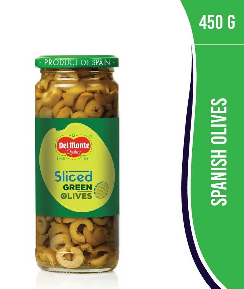 Del Monte Green Sliced Olives, 450g