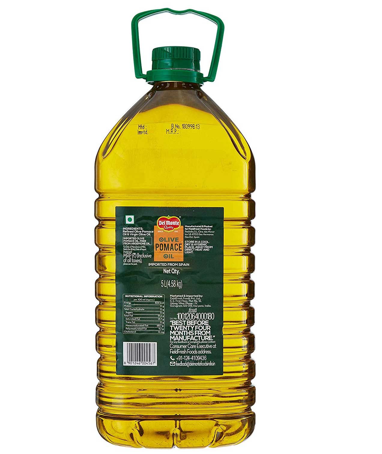 Del Monte Pomace Olive Oil Pet Bottle 5 LTRS