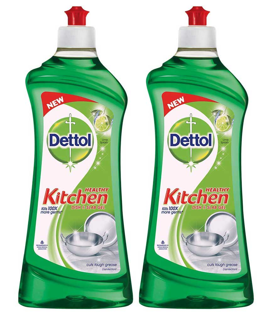 Dettol Kitchen Dish and Slab Gel Lime Splash - 750 ml (Pack of 2)