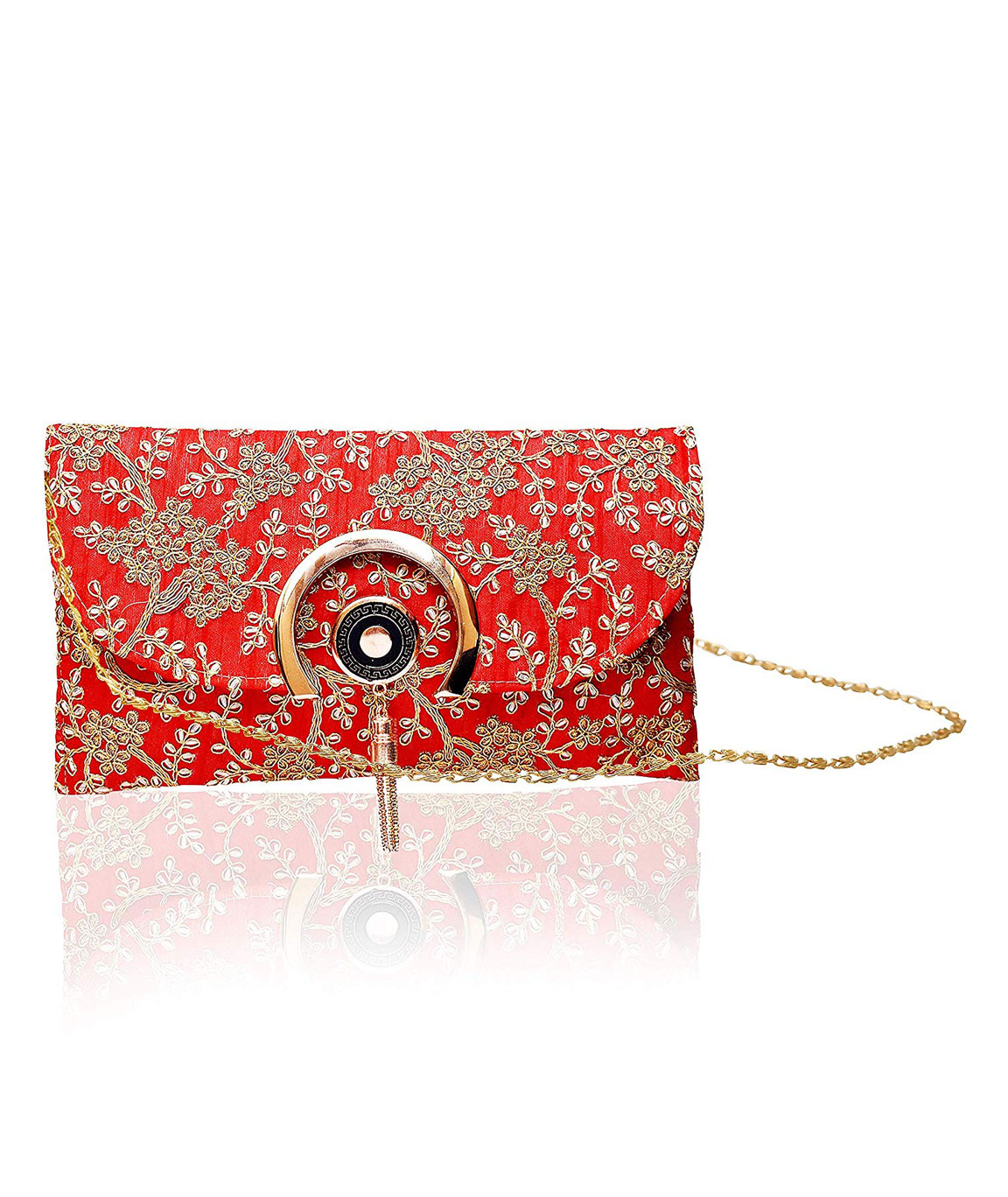 DN Enterprises Attractive Stylish Specially Heavy Embroidery Designed Sling Bag/Handbags for Girls & Womens(red)