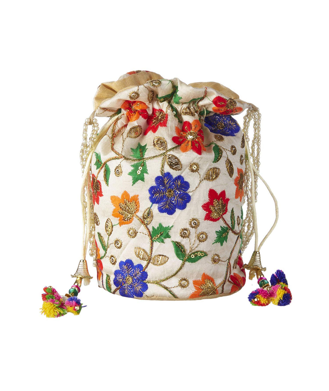 DN Enterprises Latest & Attractive Potli Bags For Women Fancy Potli Bags(white)