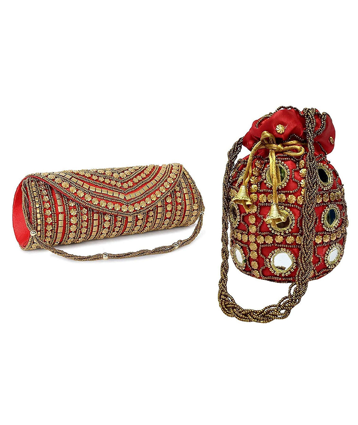 DN Enterprises Latest Potli & Clutch Combo For Women/Girls Fancy Potli Bag & Bridal Clutch