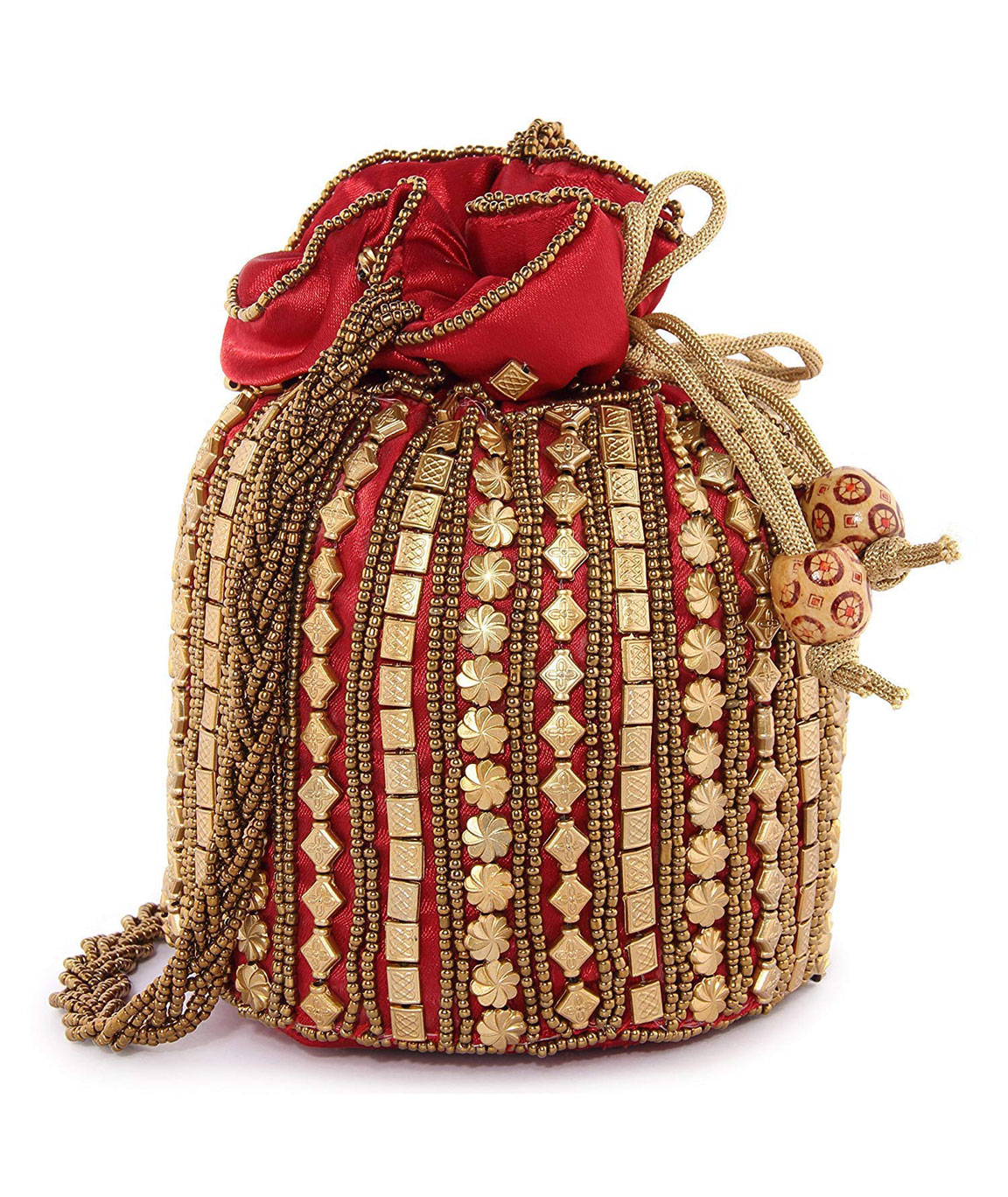 DN Enterprises Party Wear Potli Bag Bridal Potli For Women(maroon)