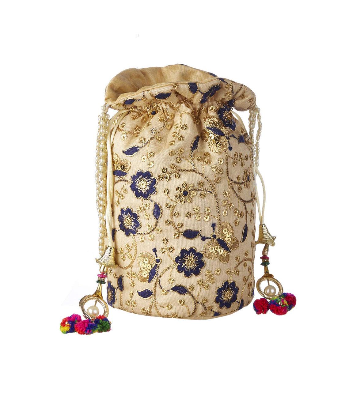 DN Enterprises Rajasthani Embrodired Royal Designer Potli Bag