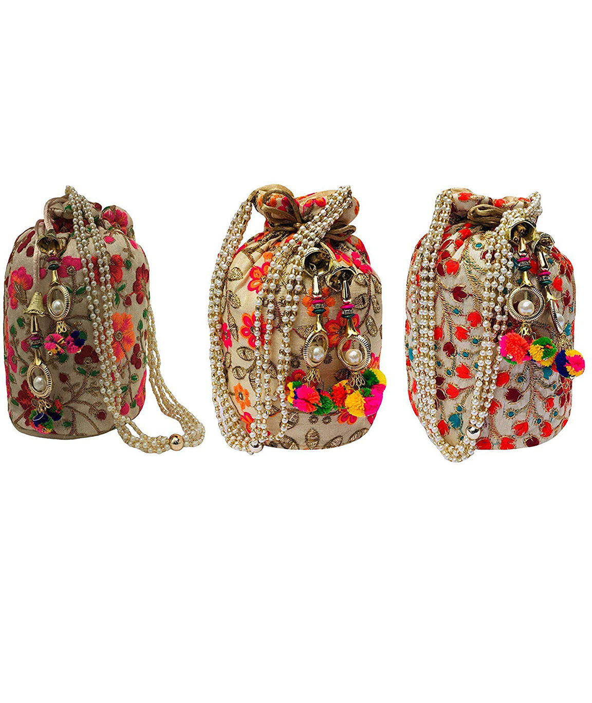 DN Enterprises Rajasthani Embrodired Royal Designer Potli Bag