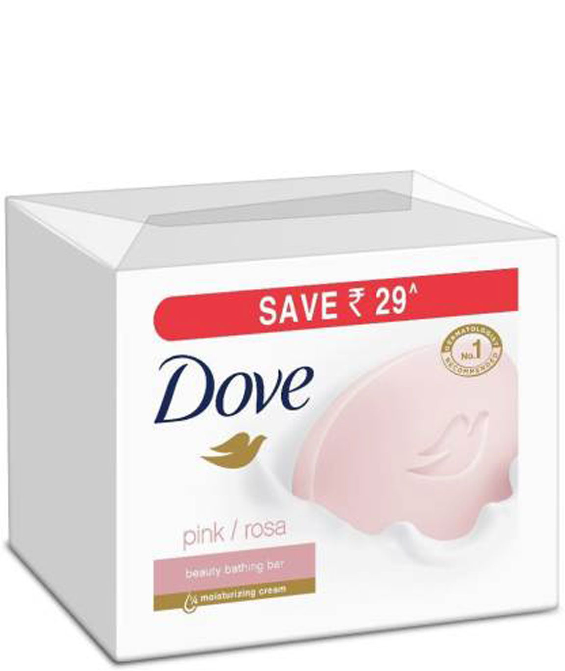 Dove Pink Rosa Beauty Bathing Bar 100g (Pack of 3)