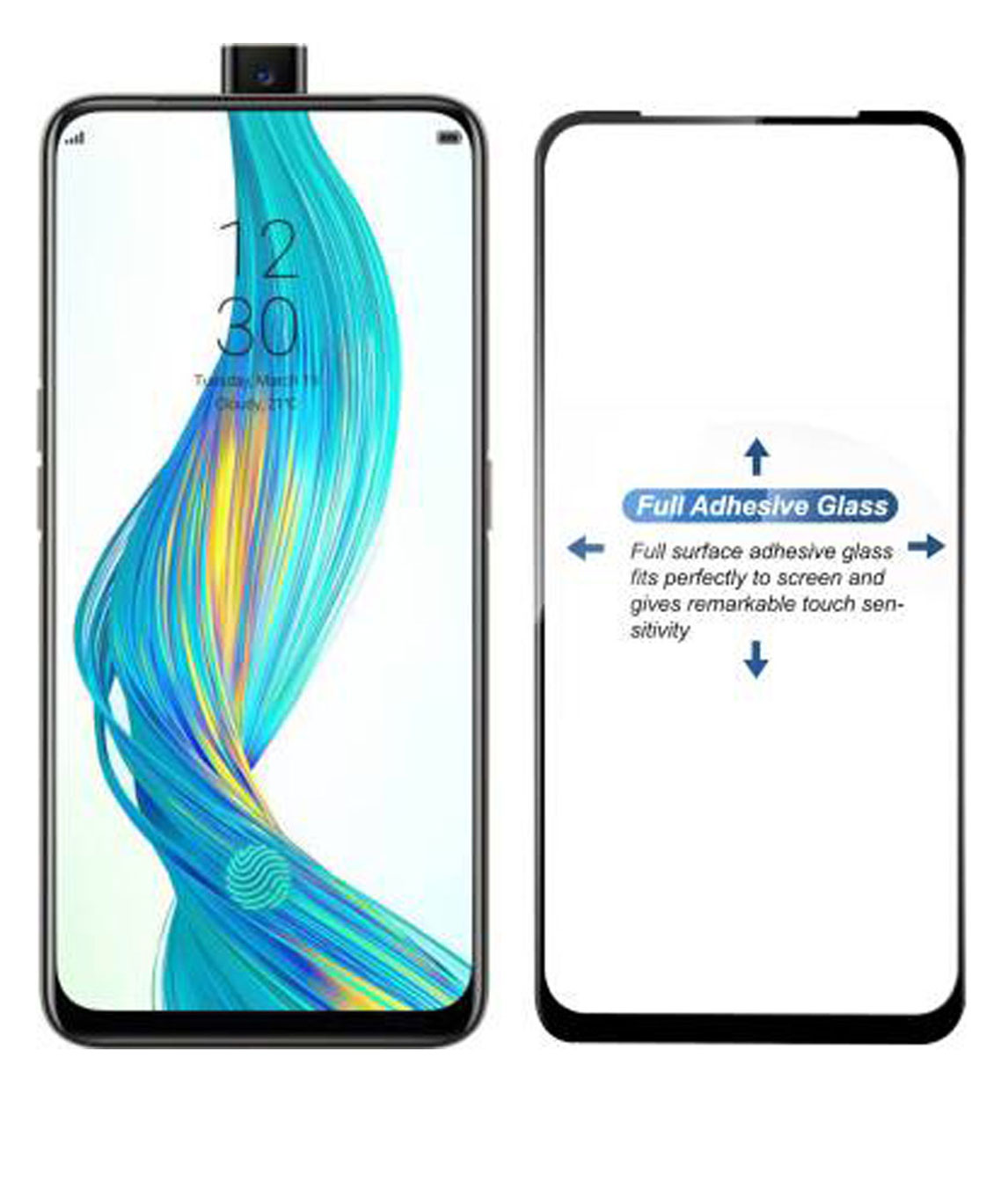 EDGE TO EDGE TEMPERED GLASS FOR REALME X (PACK OF 1)
