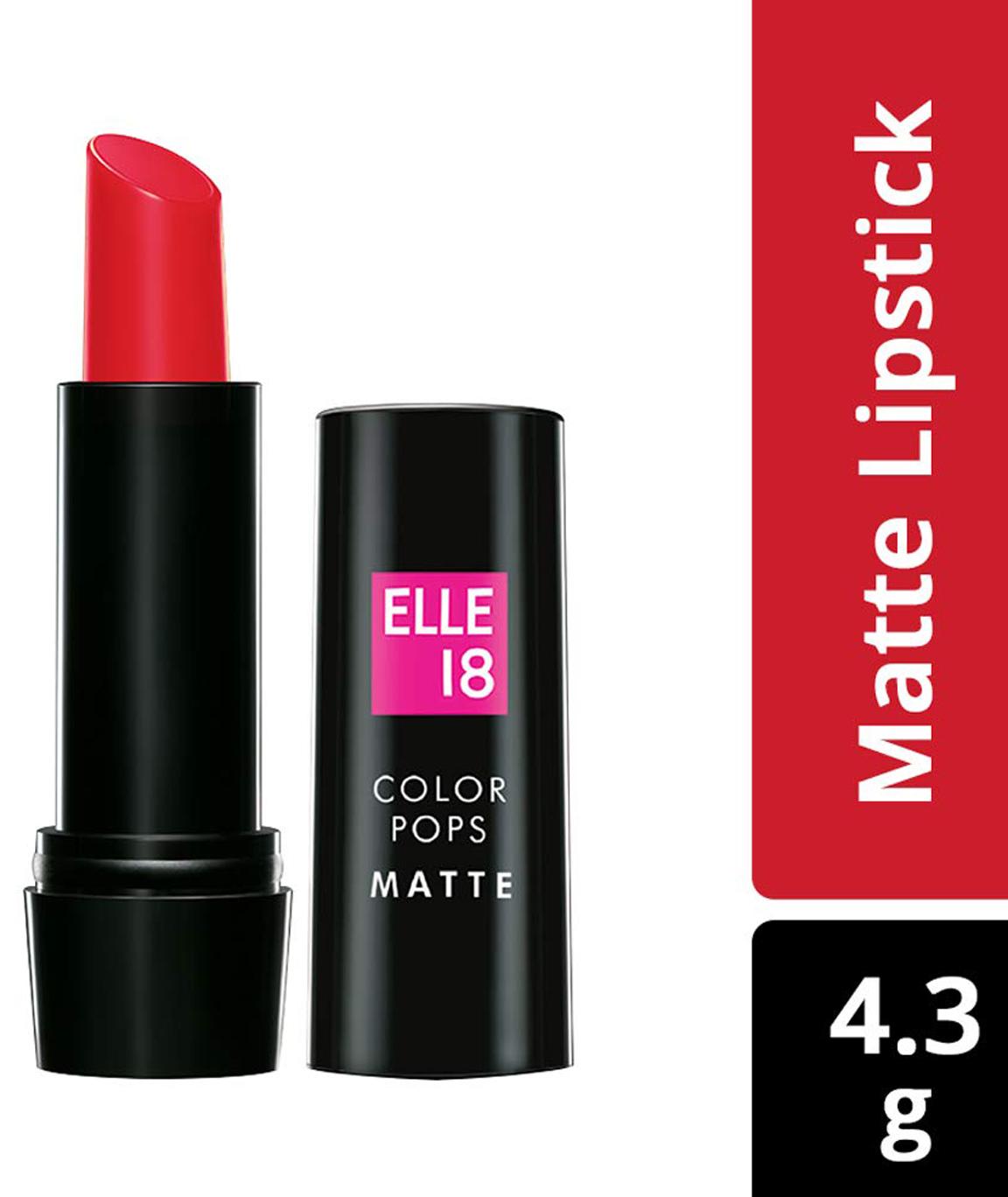 Elle18 Color Pops Matte Lipstick R37 Ravishing Red 4.3 g